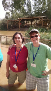 With Connie in the Jordan River, renewing baptismal vows where Jesus was baptized.