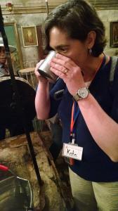 Drinking water from Jacob's Well, where Jesus met the Samaritan Woman