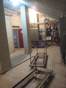 The electric room and former food pantry are now one room.
