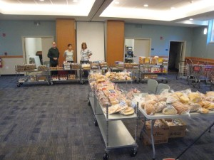 ...using all the carts Redeemer volunteers had assembled earlier in the week.